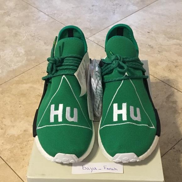 294a5df285e9 Adidas human race size 9 green dead stock UA